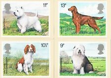 1979 - Dogs PHQ Card set, Philatelic Bureau handstamp (Gutter Pairs)