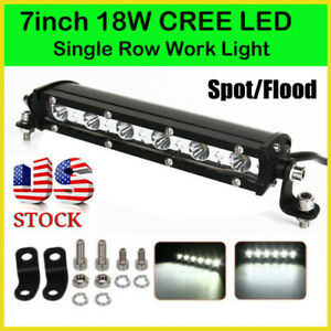 1pc 18W 6000K LED Work Light Bar Driving Lamp For Off Road SUV Car Boat Truck