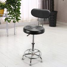 Bar Stool Work Shop Stool Chair Swivel Bench Garage Seat+Backrest Adjustable