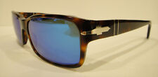 PERSOL 2803-S HAVANA SUNGLASSES Custom Blue Polarized Crystal Authentic Size 58