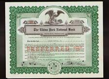 The Elkins Park National Bank PA 1940 issued to Frank Keller