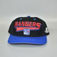 New York Rangers NHL Vintage 90's Logo Athletic Adjustable Snapback Cap Hat