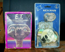Lot of 2 Vintage Old Toy 1982 E.T. EXTRA-TERRESTRIAL CARD GAME + sealed KEYCHAIN