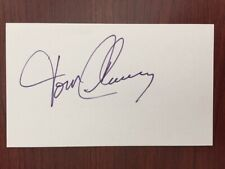 Tom Clancy Signed Autographed 3 X 5 Card American Author