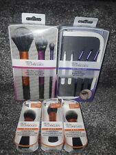 Real techniques brow set + duo fiber collection + base make up brush set