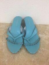 Fornarina Blue Kitten Heel Sandals - US Shoe Size (Women's) 6