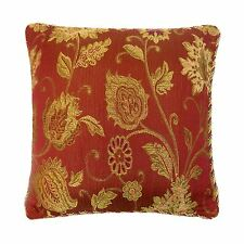 """LUXURY CACHE DESIGN TAPESTRY CHENILLE RED GOLD THICK BRAIDED CUSHION COVER 18"""""""