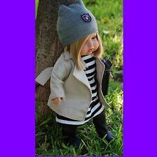 """MUÑECO BEBE DE VINILO MUÑECA 45cm BABY doll vinyl kit 17,72"""" preppy"""