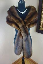 Excellent Vintage 6 pelt Russian Sable Stole Wrap Cape Coat Jacket 3196s