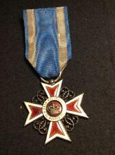 Croix d'officier de l' Ordre de la Couronne de Roumanie - Médaille Militaire