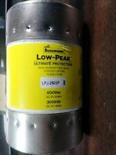 BUSSMANN LPJ-250SP Dual-elemento fusible de retardo de tiempo 250 Amp 600 voltios de corriente alterna nuevo Sin Caja