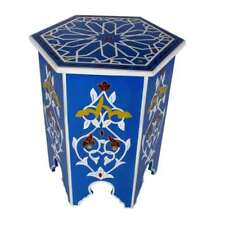 Blue Sky Moroccan Hand-painted end table XL