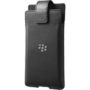 Official BlackBerry Priv Black Leather Swivel Holster Case - ACC-62174-001
