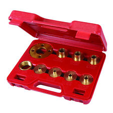 ROUTER GUIDE BUSH SET ADAPTOR TEMPLATE PLATE INCLUDED KIT 10 PCE BRASS