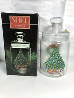 Vintage Avon Noel France Tree & Wreath Candy Jar in Original Box