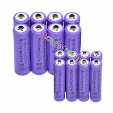 16pcs AA +AAA 3000mAh 1800mAh NiMH Rechargeable Battery Purple