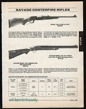 1995 SAVAGE Model 99C Lever Action Rifle and 24F Combination Rifle Shotgun AD