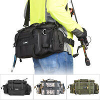Molle Fishing Tackle Bag Outdoor Waist Pack Lures Gear Storage Shoulder Bag Case