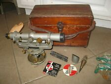 Vintage David White Instrument Transit Level With Wooden Case Amp Extras