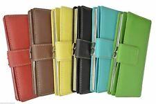 Mundi Genuine Leather Exterior Rio Tab Frame CheckBook Clutch Wallet