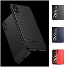 iPhone XS Case Carbon Fiber Pattern Ultra-Slim TPU Flexible Soft Cover Wholesale