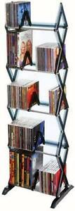 5 Tier DVD Shelf Storage CD Rack Tower BluRay Organizer Media Games Stand Holder