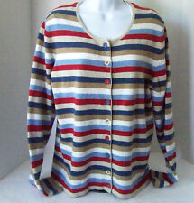 Women's ORVIS Cardigan Sweater Long Sleeve Cotton Blend M