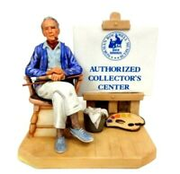 HTF Rare Norman Rockwell ''Authorized Collectors Center'' Porcelain Figurine