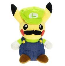 Pokemon Pikachu Cosplay Super Mario Figure Luigi Plush Toy Stuffed Doll 4.5 inch