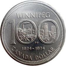 Canada 1974 $1 Winnipeg Centennial Dollar Coin