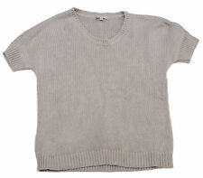 Gap Womens Grey Short Sleeve Thick Knit Jumper Pullover Top Size XS