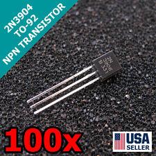 100pcs 2N3906 TO-92 NPN 40V 200mA Transistor US Seller Fast Shipping