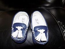 JANIE AND JACK  BABY BOY NAVY BLUE MOCCASINS SIZE 2 NWOT FREE USA SHIPPING