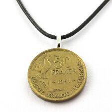 Collier pièce de monnaie France 50 francs Guiraud