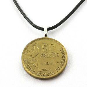 Necklace Coin France 50 Francs Guiraud