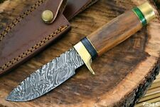 Custom Damascus Steel Hunting Knife Handmade With Walnut Handle (Z294-C)