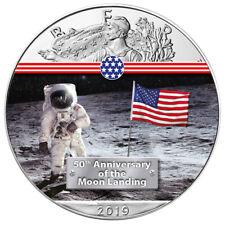 Silber Eagle First Man on the Moon Mondlandung 1 OZ Unze Ounce Silver 2019 USA