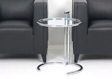 classicon E1027 réglable Table Eileen GRIS Chromé Verre Transparent