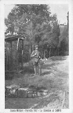 8917) PORETTA 1917 (BOLOGNA) SCUOLA MILITARE, LA GUARDIA AL CAMPO.