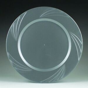 """Newbury Silver Plastic Salad Plates 7.75"""" 15 Pack Silver Party Tableware"""