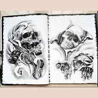 Skulls Series Skeleton Design Tattoo Art Book Flash Sketch A4 Size 76 Pages  LJ