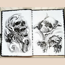 76 Pages Selected Skull Design Sketch Flash Book Tattoo Art Supplies FG