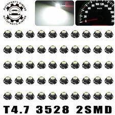 50x White T4.7 Neo Wedge LED Instrument Panel Dash Cluster Interior Light Bulbs