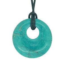 Lucky Gemini Birthstone Agogo Pendant Zodiac Gemstone Chrysocolla Howlite