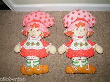 2 Vintage ~ Strawberry Shortcake ~ Cloth / Pillow Dolls
