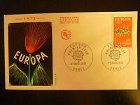 FRANCE PREMIER JOUR FDC YVERT 1715  EUROPA    0,90 F  PARIS  1972
