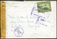 NICARAGUA TO USA Censored Air Mail Cover 1945