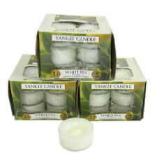 Yankee Candle White Tea Scented Candles Tea Lights x 3 boxes Packs of 12