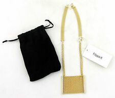 Filippa K collar cadena de eslabones oros Necklace nuevo con etiqueta bisutería