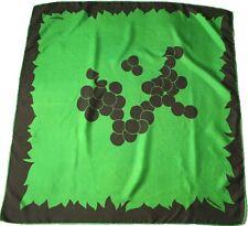 Jacqmar 1960s vintage silk scarf -Green / Brown Abstract Print - Medium